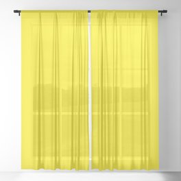 Canary Yellow Sheer Curtain