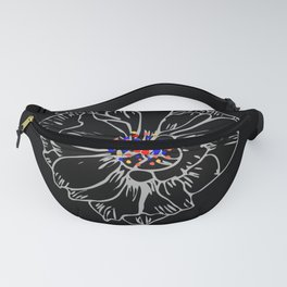 White stroke flower rainbow anthers Fanny Pack