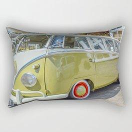Lime Green Camper Van Rectangular Pillow