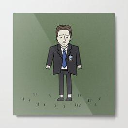 Sad Mulder in a Field Metal Print