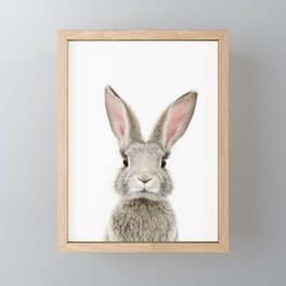 Bunny Portrait Framed Mini Art Print