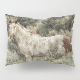 South Steens Stallion Alone on the Range Pillow Sham