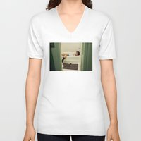 caleb troy V-neck T-shirts featuring Caleb. by Will Copeland