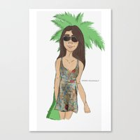 selena gomez Canvas Prints featuring selena gomez  by Emma Raunholt