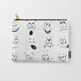 Cartoon faces Carry-All Pouch