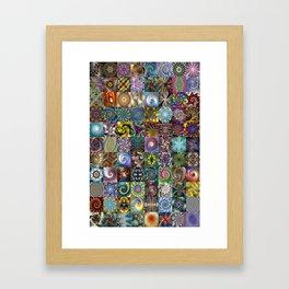 Fractals Montage Framed Art Print