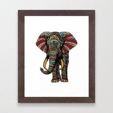 Ornate Elephant (Color Version) Framed Art Print