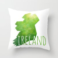 ruben ireland Throw Pillows featuring Ireland by Stephanie Wittenburg