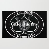 cafe racer Area & Throw Rugs featuring Cafe Racer  by Peter G. Brandt