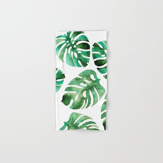 Monstera Hand & Bath Towel