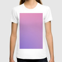 TAINTED CANDY - Minimal Plain Soft Mood Color Blend Prints T-shirt