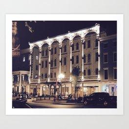 Saratoga Springs at Night Art Print