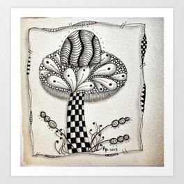 Zentangle 1 Art Print