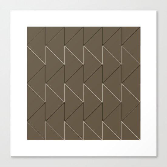 #168 Sawtooth – Geometry Daily Canvas Print