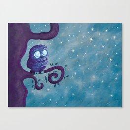 Owl & the stars Canvas Print