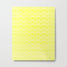 Paw Prints on my Heart - in Yellow Metal Print