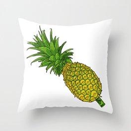 Pi the pineapple Throw Pillow
