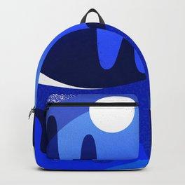Terrazzo landscape blue night Backpack