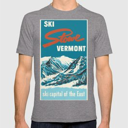Stowe, Vermont Vintage Ski Poster T-shirt
