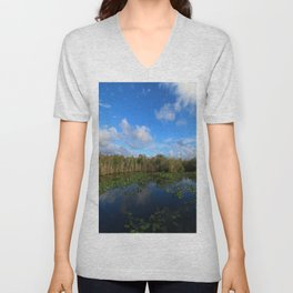 Blue Hour In The Everglades Unisex V-Neck