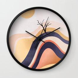 The Flowing Golden Desert Wall Clock