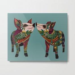 pig love jade Metal Print