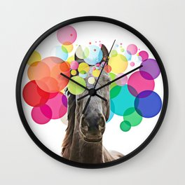 Horse Pop Art Wall Clock
