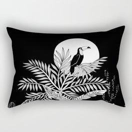 Toucan in the night jungle Rectangular Pillow