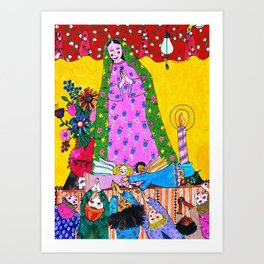 ADORING THE VIRGIN Art Print