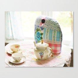 Vintage tea setting Canvas Print