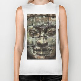 The Face of Angkor Thom Biker Tank