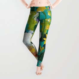 Poppy Clouds Leggings