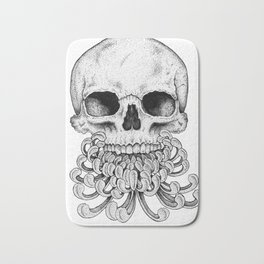 Peony Skull Creation Bath Mat