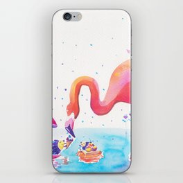 Flamingo Print - Ice-cream Party iPhone Skin
