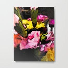 Flower of Pink with Rainbow Flowers 1 Metal Print