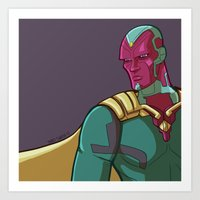 Vision from the MCU Art Print