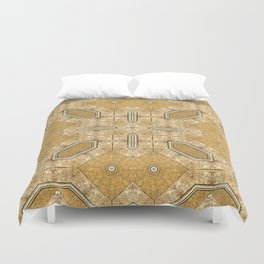 Victorian Art Deco Medieval Pattern light brown SB20 Duvet Cover