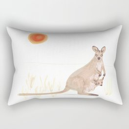 Kangaroo and baby Rectangular Pillow