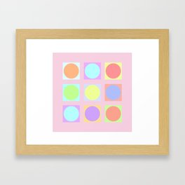 Pastel Dots Framed Art Print