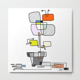 """Les Fleurs Du Mal - 1"" Modern Artwork (2018) Metal Print"
