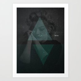 Sirius, the brightest star Art Print