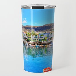 Puerto de Mogan port Travel Mug