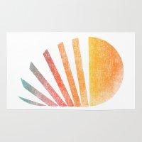 ed sheeran Area & Throw Rugs featuring Raising sun (rainbow-ed) by Picomodi