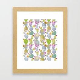 Blooming Spring Cacti Framed Art Print