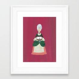The Lady Who Had Her Cake - Original Marie Antoinette Inspired Artwork Framed Art Print