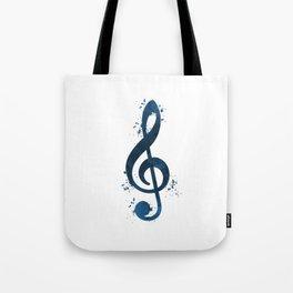Treble clef Tote Bag