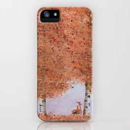 Autumn Birch Fox iPhone Case