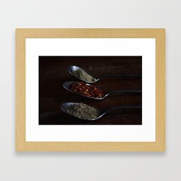 Spicing thing up Framed Art Print
