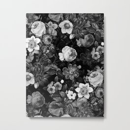 Black and White Garden Metal Print