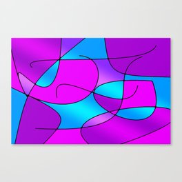 ABSTRACT CURVES #1 (Purples, Violets, Fuchsias & Turquoises) Canvas Print